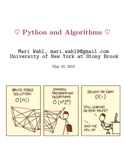 Книга на английском - Python and Algorithms (University of New York at Stony Brook) - обложка книги скачать бесплатно
