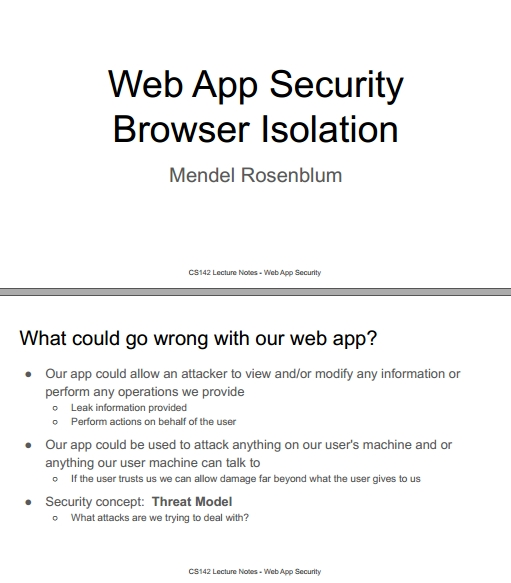 Книга на английском - Web Applications Development, Stanford Lectures: Web App Security Browser Isolation - обложка книги скачать бесплатно