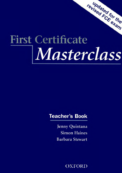 Книга на английском - First Certificate Masterclass: Teacher's book (Upper-intermediate) - обложка книги скачать бесплатно
