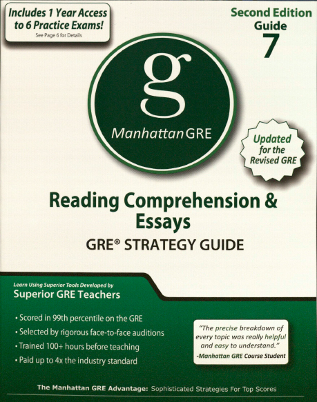 Книга на английском - Manhattan GRE Strategy Guide 7: Reading Comprehension and Essays - обложка книги скачать бесплатно