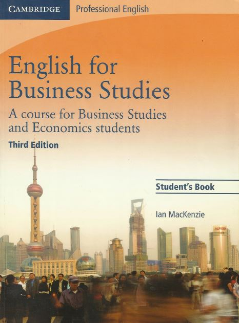 Книга на английском - Cambridge: Professional English for Business Studies - A Course for Business Studies and Economics Students (Third Edition) - обложка книги скачать бесплатно