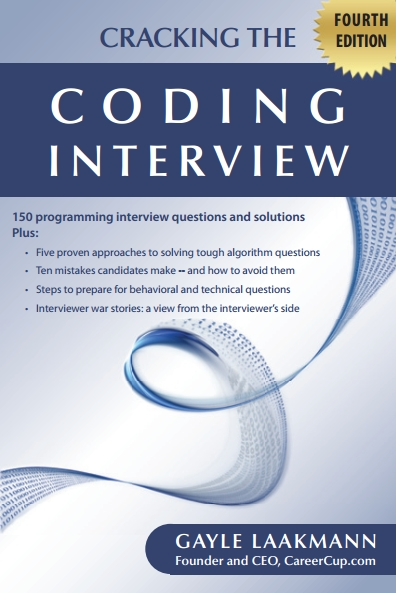 Книга на английском - Cracking the Coding Interview: 150 Programming Interview Questions and Solutions (Fourth Edition) - обложка книги скачать бесплатно