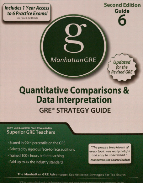 Книга на английском - Manhattan GRE Strategy Guide 6: Quantitative Comparisons and Data Interpretation - обложка книги скачать бесплатно